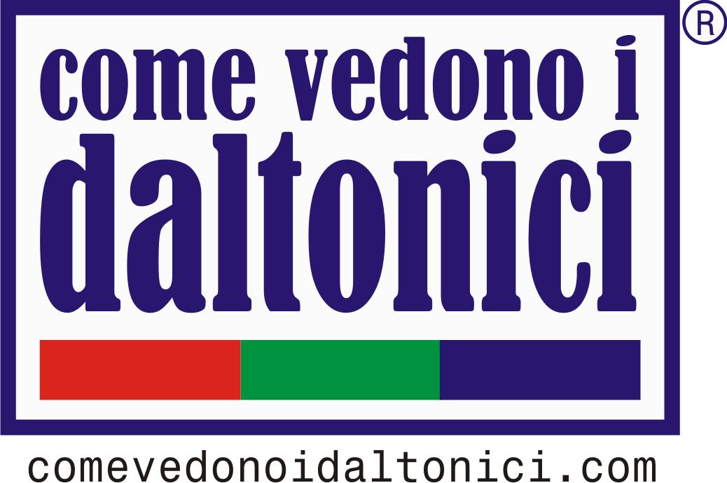 Logo 'Come vedono i daltonici'