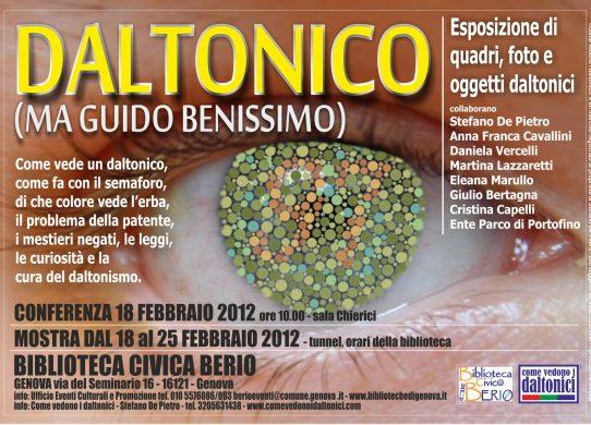 Locandina della mostra 2012 alla Berio